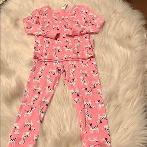 NWT Little Me Cotton Pajamas Dalmatians 2T